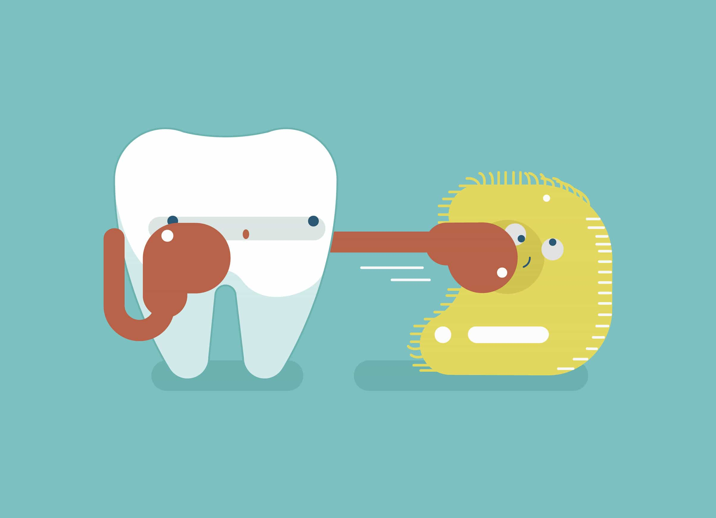 51506883 - boxing for protect tooth ,dental concept